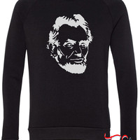 Abe Lincoln fleece crewneck sweatshirt