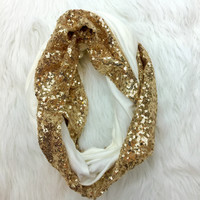 ALL THAT GLITTERS SCARF IN WHITE