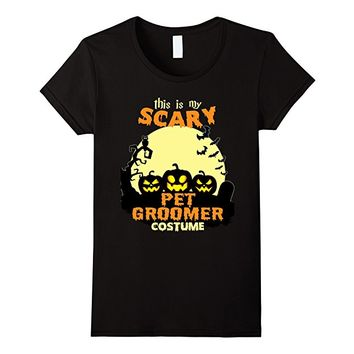 This is my scary Pet Groomer costume T-Shirt
