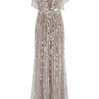 Boutique 1 - TEMPERLEY LONDON - Gold Sequin Gown | Boutique1.com