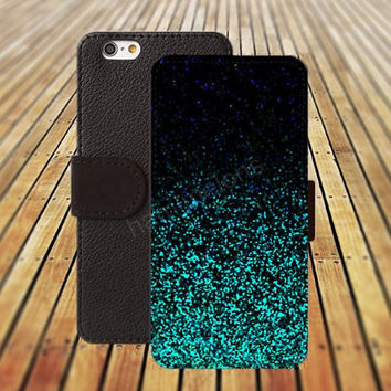 iphone 5 5s case warercolor Sparkling mint green iphone 4/4s iPhone 6 6 Plus iphone 5C Wallet Case,iPhone 5 Case,Cover,Cases colorful pattern L250