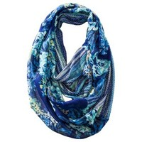 Mossimo Supply Co. Floral Infinity Scarf - Blue