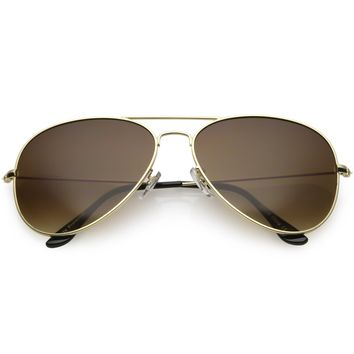 Large Full Metal Aviator Gradient Lens Sunglasses C764 60mm
