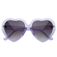 TRANSLUCENT LOLITA HEART SUNGLASSES