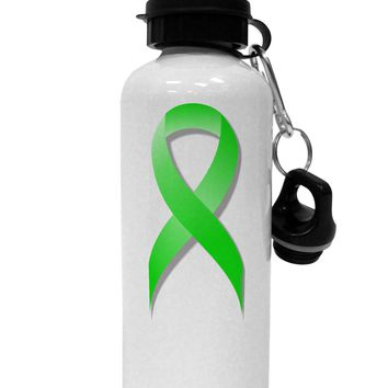 Lyme Disease Awareness Ribbon - Lime Green Aluminum 600ml Water Bottle