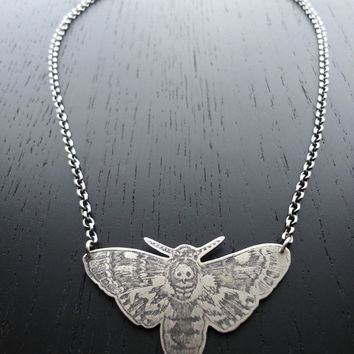 SALE Death-Head Moth Necklace