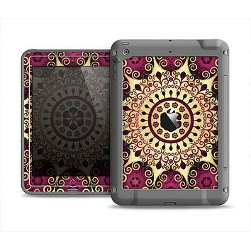 The Mirrored Gold & Purple Elegance Apple iPad Mini LifeProof Fre Case Skin Set