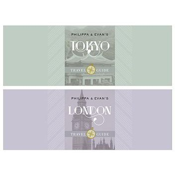 Kraft Drawer-Style Favor Boxes with Destination City Names (Pack of 8)