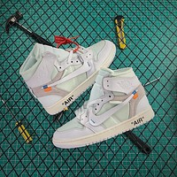 OFF WHITE x Air Jordan 1 Retro High OG White