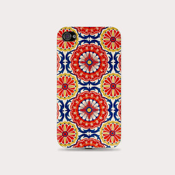 VTG Abstract tile floral printed Plastic Hard Case - iphone 5/5s - iphone 4 - iphone 4s - Samsung S3 - Samsung S4 - Samsung Note 2