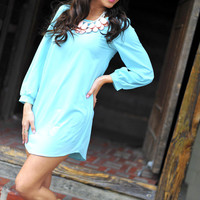 Where Have You Been All My Life Tunic: Light Blue | Hope's