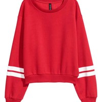 Sweatshirt with a motif - Red - Ladies | H&M GB