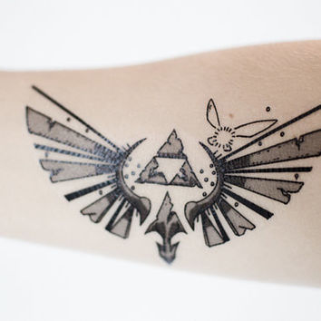 Legend of Zelda Small Triforce Temporary Tattoo