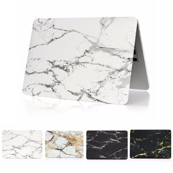 Marble Grain Matte Hard Cover Case for New Macbook Pro 13 A1706 With Touch Bar For Macbook Pro 13 A1708 No Touch Bar Laptop Case