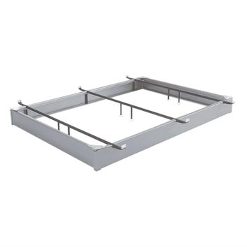 Queen size Heavy Duty Hospitality Bed Base Hotel Style Bed Frame in Matte Metal Finish