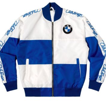 Club Foreign Bavarian Motor Works Racing Jacket in Royal Blue