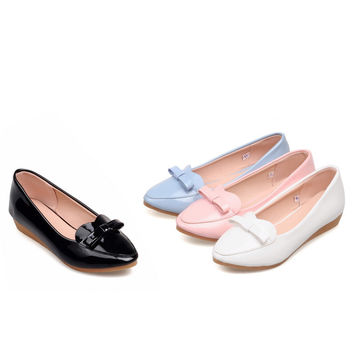 Casual Women Flats Bowtie Ballet Shoes