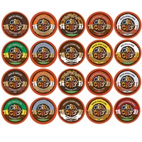 Crazy Cups Flavored Decaf Coffee Single Serve Cups For Keurig K Cup Brewer Variety Pack Sampler 20 Count (Decaf Sampler) Decaf Sampler