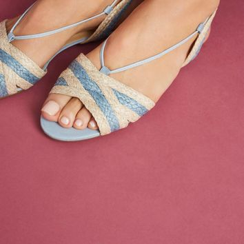 Vicenza Striped Raffia Sandals