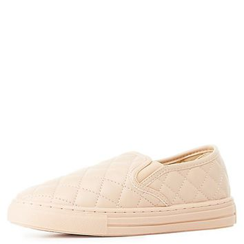 Qupid Quilted Slip-On Sneakers | Charlotte Russe