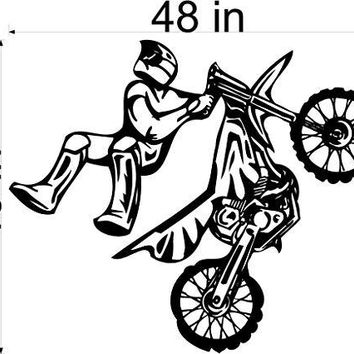 Dirt Bike Motor Cross Car Wall Decals Stickers Graphics Man Cave Boys Room Décor