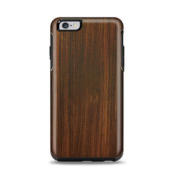 The Dark Walnut Stained Wood Apple iPhone 6 Plus Otterbox Symmetry Case Skin Set