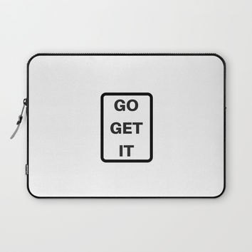 GO GET IT Laptop Sleeve by Love from Sophie