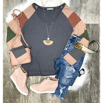 This Is The Day Thermal Color Block Top