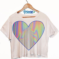 Hologram Love Crop Top | fresh-tops.com