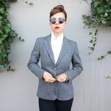 Grey Fitted Blazer by Evan-Picone