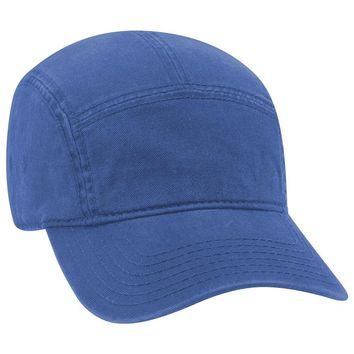 d1622120 OTTO Garment Washed Superior Cotton Twill 5 Panel Camper Hat