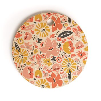 Heather Dutton Betty Cutting Board Round