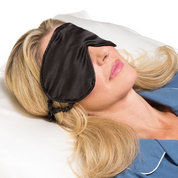 100% Mulberry Silk Therapeutic Sleep Mask with Adjustable Strap - 19 Momme