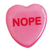 Nope Sweetheart Pin