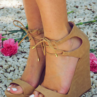Take Me Out Wedges: Nude