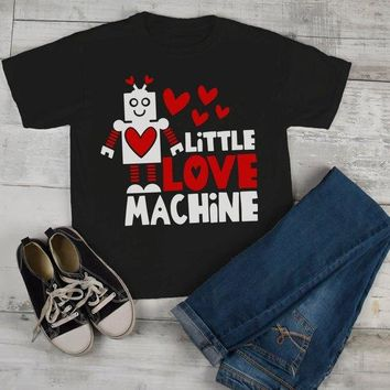 Kids Valentine's Day T Shirt Little Love Machine Shirts Cute Adorable Valentine Tshirt Toddler Tee