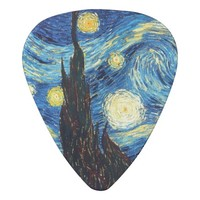 Starry Night Art Guitar Pick