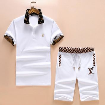 3b96d7458879 Boys   Men Louis Vuitton Shirt Top Tee Shorts Set Two-Piece
