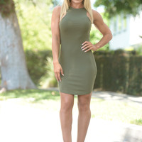 Terry Dress - Olive