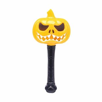 Halloween Pumpkin Ghost Magic Wand Luminous Witch Wand Funny Horror Scene Layout Children Toys Fine Gift Festival Decor