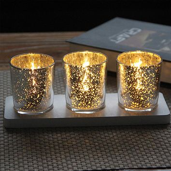 Mercury Glass Votive Candle Holder Tealight Candle Holders Vintage Retro