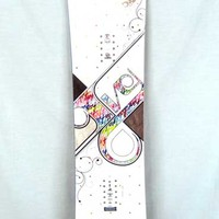 Salomon Ivy Snowboard Wht/Multi with Boots/Bindings