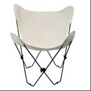 Algoma Net Company 4053-00 Black Butterfly Chair with Natural Cover