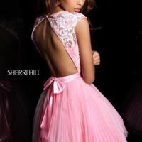 Sherri Hill Short Dress 21167 at Peaches Boutique