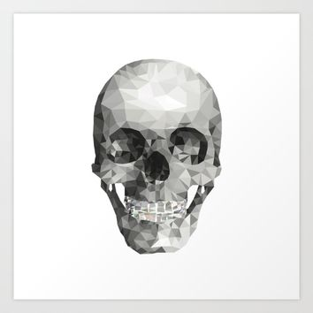 Skull Plain White Art Print by Nordberg