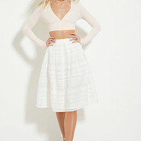 Grid Cutout A-Line Skirt