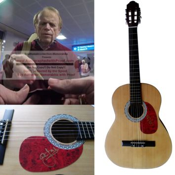 Al Jardine Autographed Full Size 39 Inch Country Music Acoustic Guitar, Beach Boys Founding Member, Proof Photo
