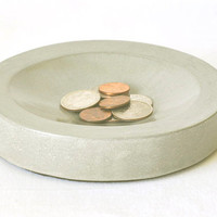 Concrete Coin Dish by StudioHR on Etsy