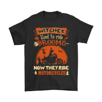QIYIF Witches Used To Ride Brooms Now The Ride Motorcycles Shirts