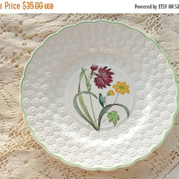 On Sale Vintage Spode Botanical  Plate, Flowers of the Month #4, Narcissi Collectible Plate, Signed Numbered 9366, Cabinet Plate Ca. 1932